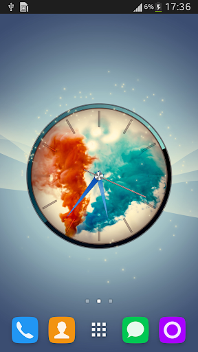 Colorful Smoke Clock LWP