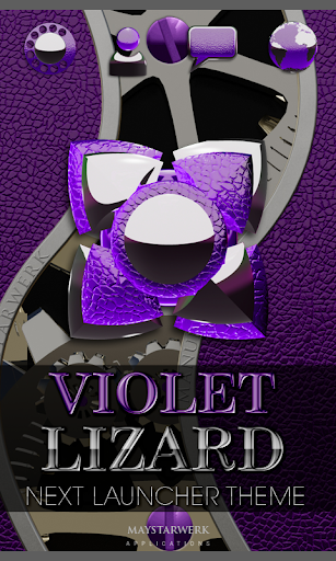 下一个紫色的蜥蜴高清主题 NEXT