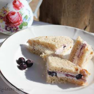 Blueberry Tea Sandwiches