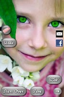 Screenshot of Eye Color Booth