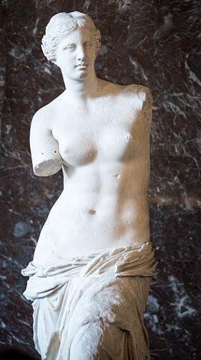 Venus-de-Milo-Louvre-Paris - The Venus de Milo (130-100 BC) at the Louvre.