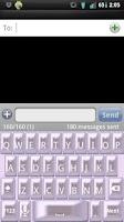 Screenshot of Girly Pearl Keyboard Skin