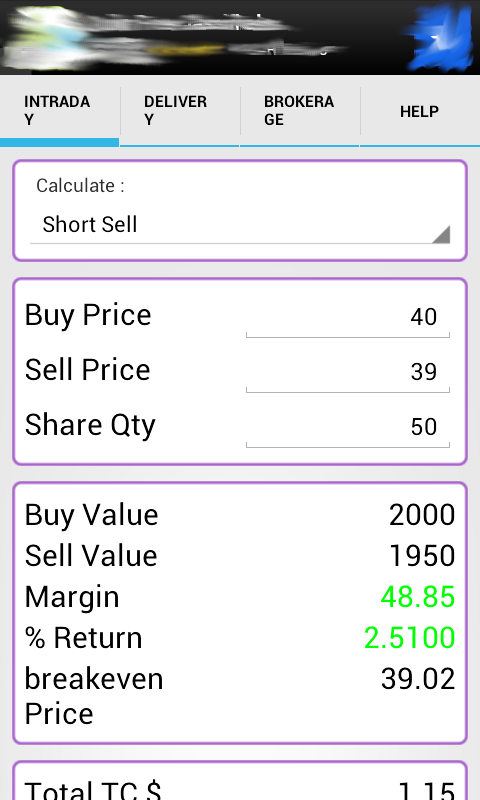 Indian stock options calculator