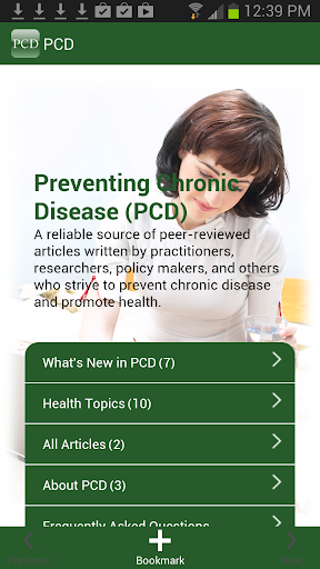 Preventing Chronic Disease-PCD