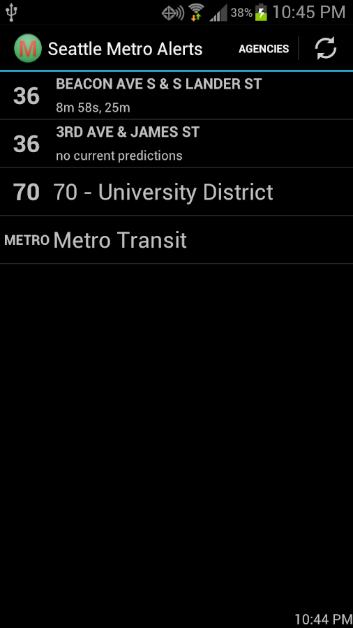 Seattle Metro Alerts- screenshot