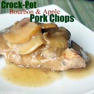 Crock-Pot Bourbon Apple Pork Chops.