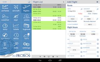 Screenshot of mccPILOTLOG