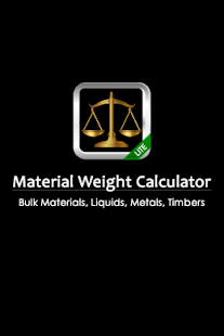 Material Weight Calculator LTE - screenshot thumbnail