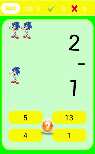Math Kids Sonic