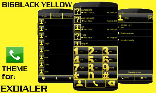 ExDialer Theme BIGBLACK Yellow