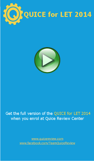 QUICE for LET 2014