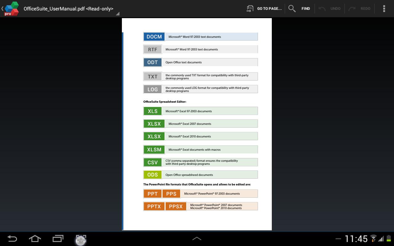 OfficeSuite 7 Pro (PDF&Fonts) - screenshot
