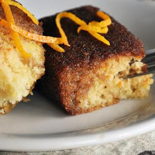 Orange Cake with Grand Marnier Sauce.