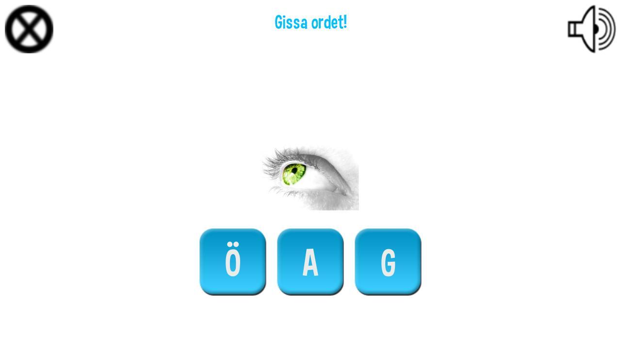 Ordspelet för barn Svenska - screenshot