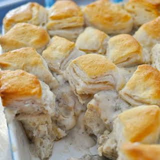 Biscuits and Gravy Casserole.