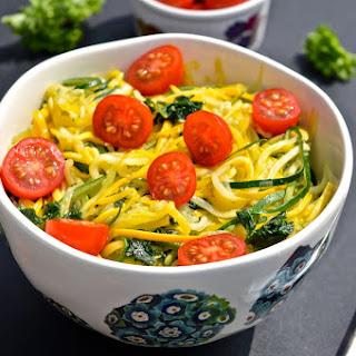 "Simple Summer Zucchini and Tomato ""Pasta"" (Paleo, SCD, GAPS)"