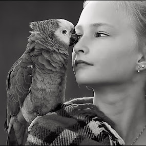 by Jane Bjerkli - Black & White Animals ( , black and white, animal )