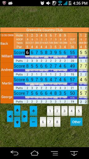 Golf score management Golfine