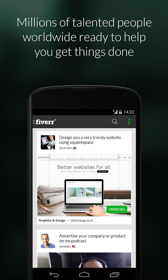 Fiverr® - Business Services - screenshot