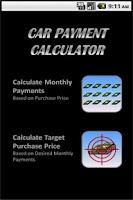 Screenshot of Car Payment Calculator