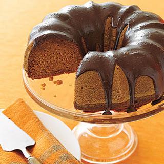 Chocolate-Glazed Pumpkin Cake