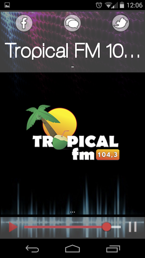 Tropical FM 104,3- screenshot