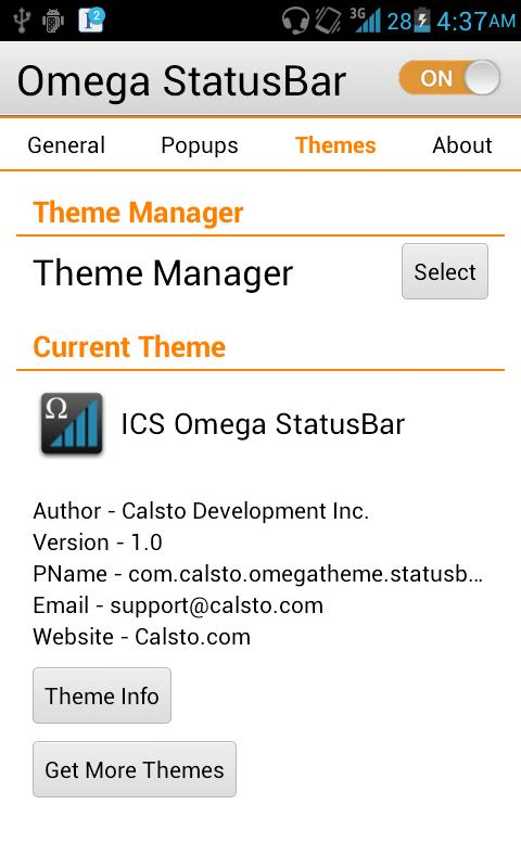 ICS OSB Theme - screenshot