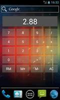 Screenshot of Calculator Widget