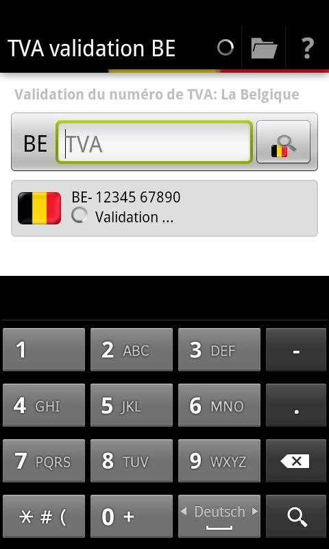TVA validation BE- screenshot