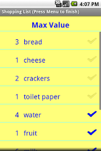 Simple Shopping List screenshot 1