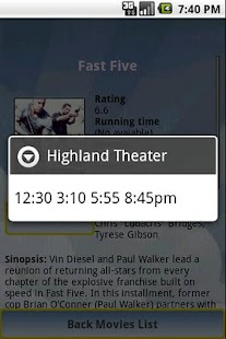 Cinema Movies Showtimes- screenshot thumbnail