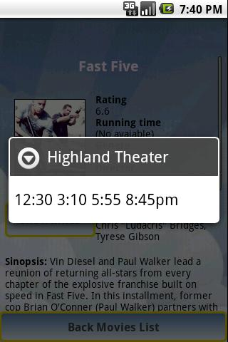 Cinema Movies Showtimes - screenshot
