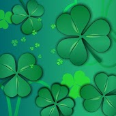 Lucky Shamrocks Live Wallpaper