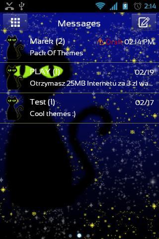 GO短信加强版魔术猫主题