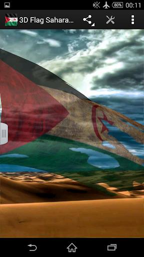 3D Flag Sahara LWP