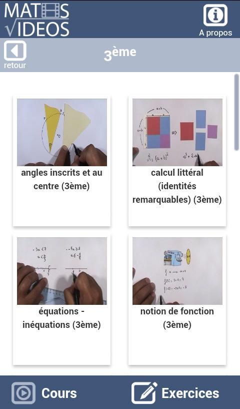 Maths-Videos - screenshot
