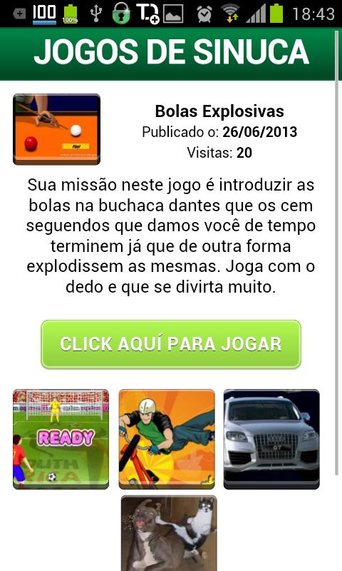 Jogos de Sinuca - screenshot