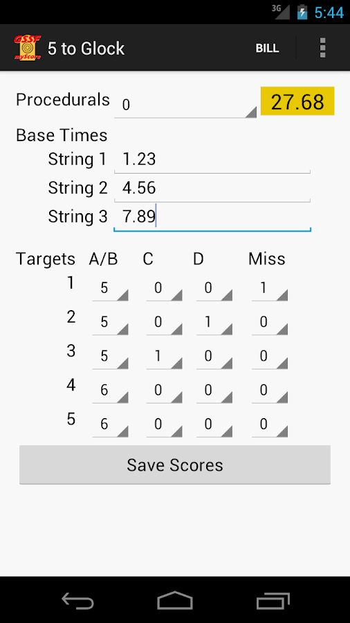 GSSF myScore - screenshot