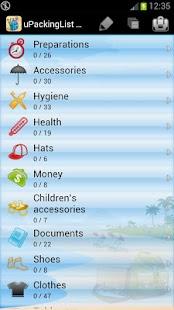 uPackingList- screenshot thumbnail