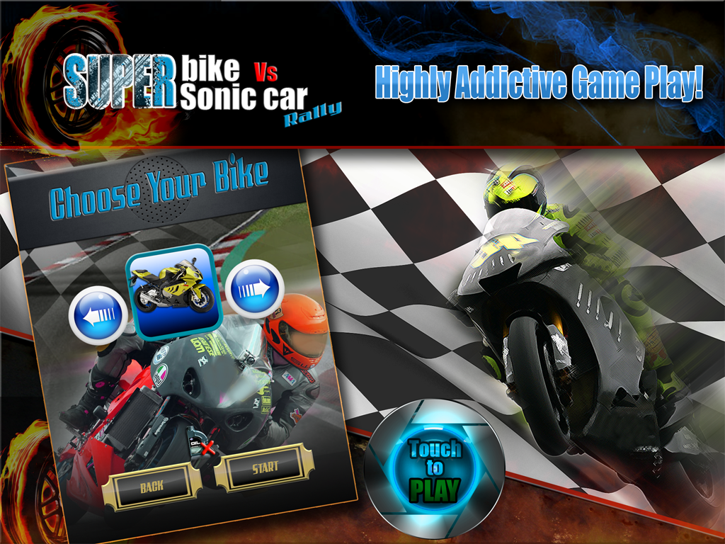Superbike Vs Super Sonic Car - screenshot