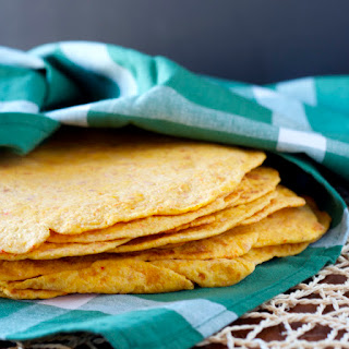 Roasted Red Pepper Tortillas