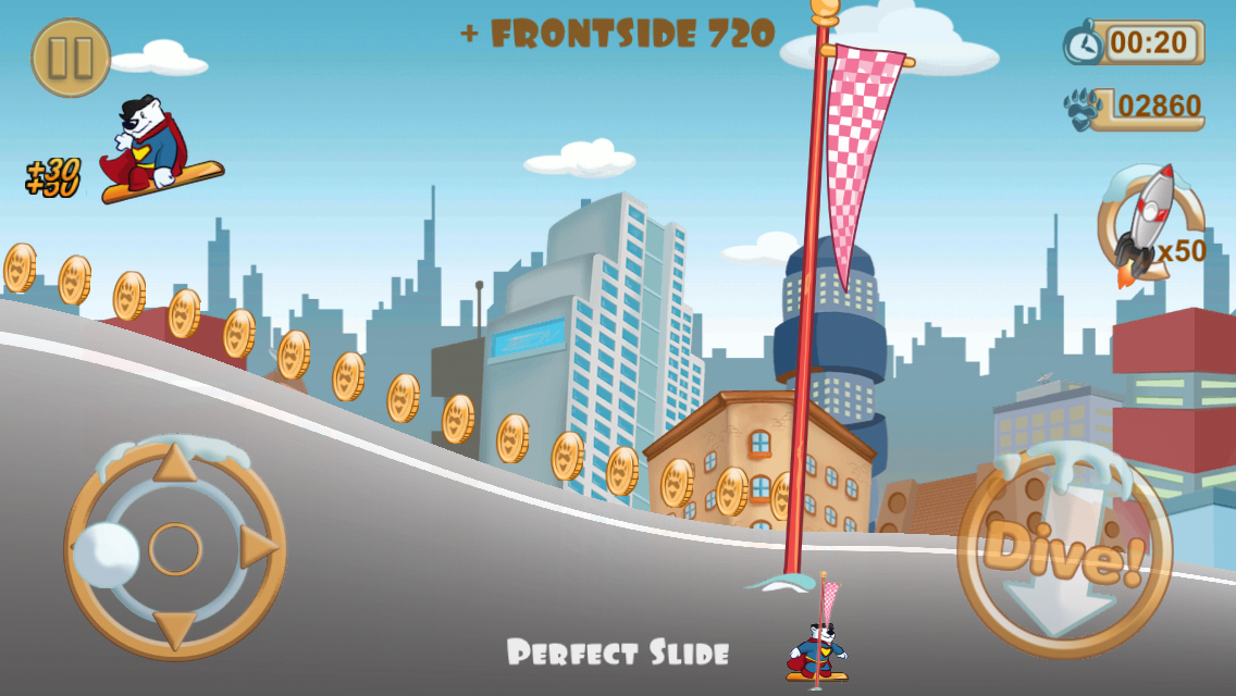 Snowboard Racing Free Fun Game - screenshot