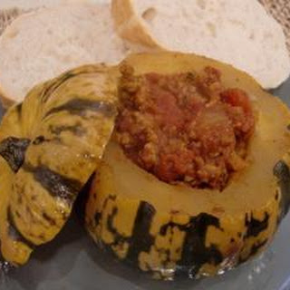 Pumpkin Stuffed With Curried Pork