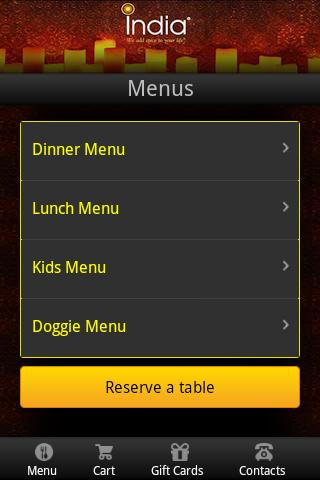 India Restaurant - screenshot