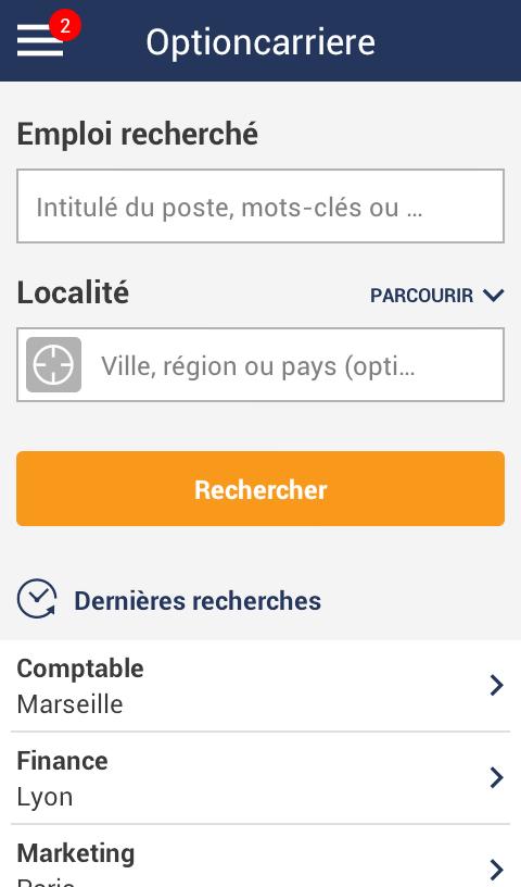 Offres d'emploi - Travail - screenshot