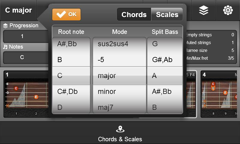 JamBox Chords & Scales - screenshot