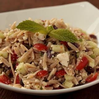 Whole Wheat Greek Orzo Salad