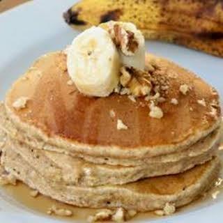 Whole Wheat, Oatmeal, and Banana Pancakes.