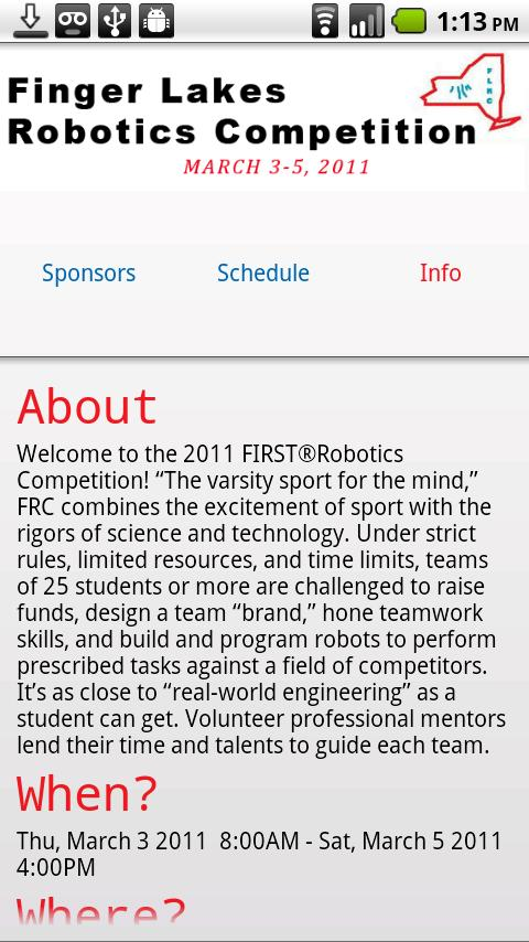 FRC FingerLakes 2011 - screenshot
