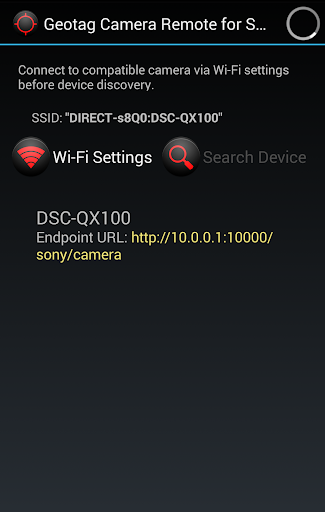 Geotag Camera Remote for Sony